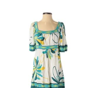 BCBGMAXAZRIA Tropical Print Boho Casual Dress